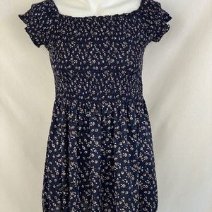 Brandy Melville Navy Floral Dress - OS